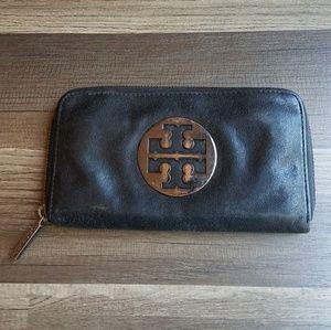 Tory Burch Mirror Crinkle Zip Continental Wallet